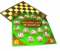 Доска микрогофрокартон с фотографиями чемпионов мира по шахматам