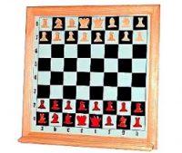 Доска демонстрационная шахматы мет.(клетка9.5х9.5 доска90х90 см.)