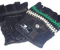 Перчатки без пальцев (кожа+сетка)